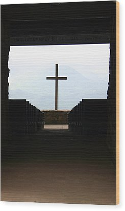 Wood Print featuring the photograph Cross 1 by Kelly Hazel