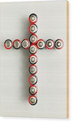Cross Batteries 1 A Wood Print by John Brueske