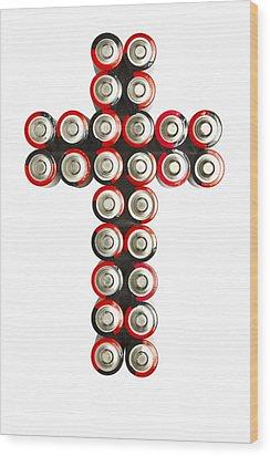 Cross Batteries 2 Wood Print by John Brueske