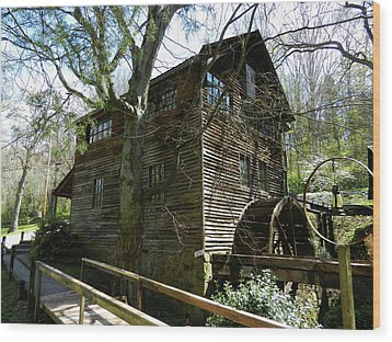 Wood Print featuring the photograph Cross Eyed Cricket Grist Mill by Paul Mashburn