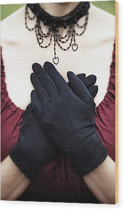 Crossed Hands Wood Print by Joana Kruse