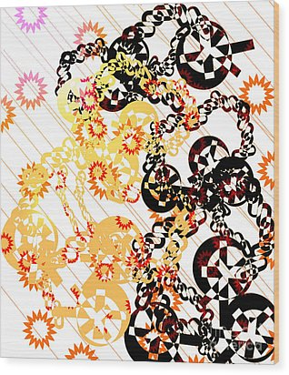 Crosses And Chains  Wood Print by Melissa  Hardiman