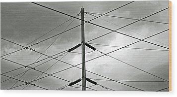 Crossing The Lines Wood Print