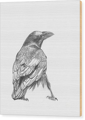 Crow Wood Print by Kazumi Whitemoon
