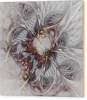 Wood Print featuring the digital art Crowd Of Sorrows by NirvanaBlues