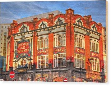 Crown Hotel Wood Print by Barry R Jones Jr