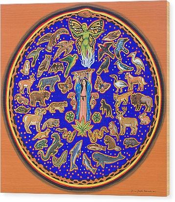 Crown Of Creation Wood Print