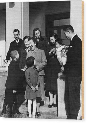 Crown Prince Akihito, Princess Suga Wood Print by Everett