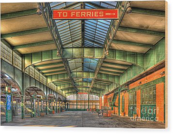 Crrnj Terminal I Wood Print by Clarence Holmes