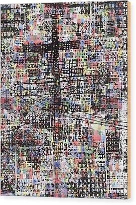 Cruciform Xvii Wood Print by Andy  Mercer