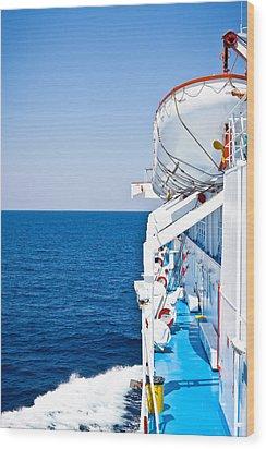 Cruise Ship Wood Print by Tom Gowanlock
