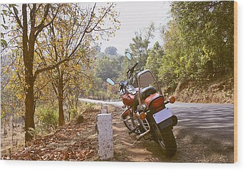 Cruiser In Autumn Wood Print by Kantilal Patel