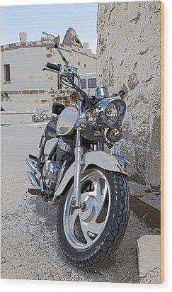 Cruiser Motor Bike Turkey Wood Print by Kantilal Patel