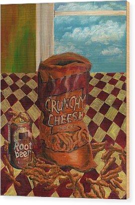 Crunchy Cheese - Autumn Wood Print
