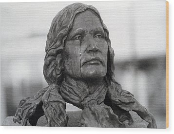 Crying Chief Niwot  Wood Print by James BO  Insogna