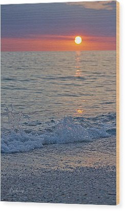 Crystal Blue Waters At Sunset In Treasure Island Florida 2 Wood Print by Robin Lewis