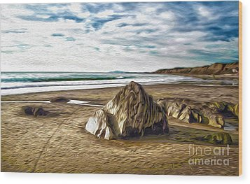 Crystal Cove Sea Shore Wood Print by Gregory Dyer