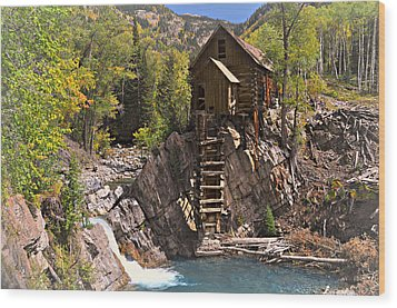 Crystal Mill 3 Wood Print by Marty Koch