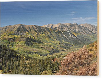 Crystal Valley Wood Print by Marty Koch