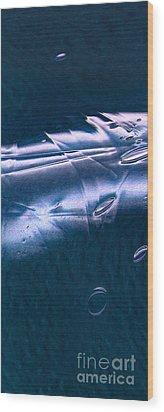 Crystalline Entity Panel 1 Wood Print by Peter Piatt