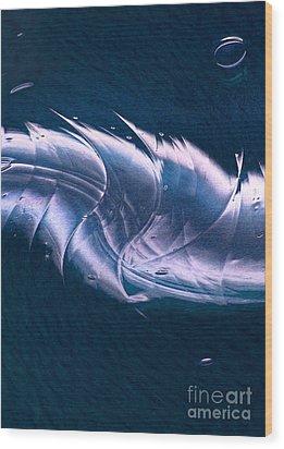 Crystalline Entity Panel 2 Wood Print by Peter Piatt