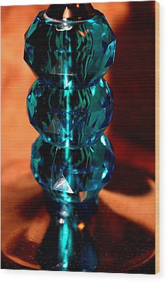 Crystalline Vintage Wood Print