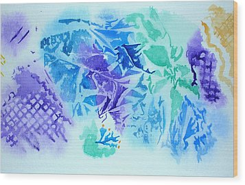 Crystals Wood Print by Mary Kay Holladay