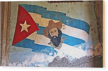 Cuban Flag Wood Print by Kimberley Bennett