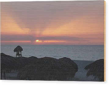 Wood Print featuring the photograph Cuban Sunset by David Grant
