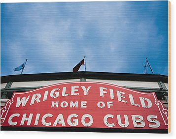 Cubs Sign Wood Print
