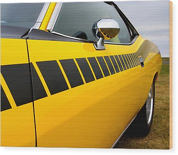 Cuda Stripes Wood Print