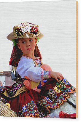 Cuenca Kids 193 Wood Print by Al Bourassa