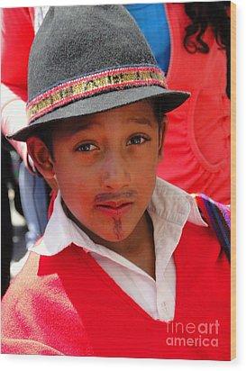 Cuenca Kids 57 Wood Print by Al Bourassa
