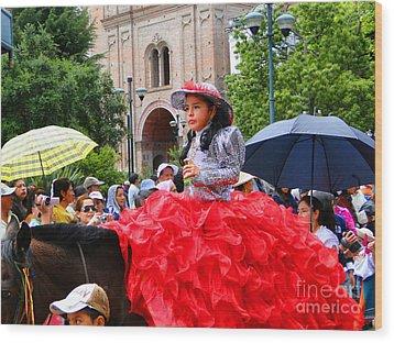 Cuenca Kids 84 Wood Print by Al Bourassa