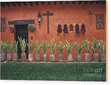 Wood Print featuring the photograph Cuernavaca Wall Mexico by John  Mitchell