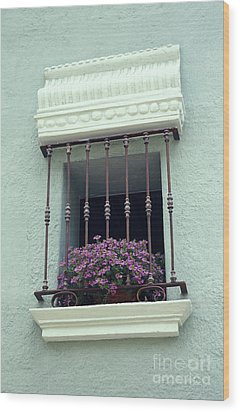 Wood Print featuring the photograph Cuernavaca Window  Mexico by John  Mitchell
