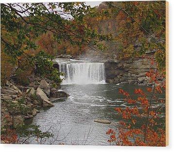 Cumberland Falls 2 Wood Print by Kathy Long