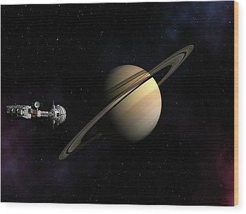Cumberland Passing Saturn Wood Print