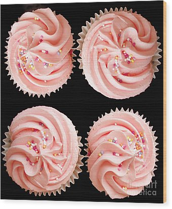 Cup Cakes Wood Print by Jane Rix