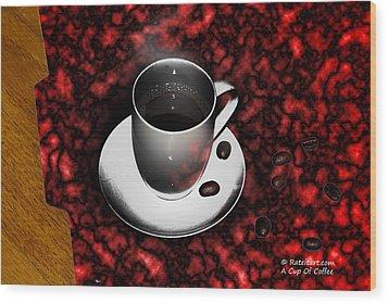 Cup Of Coffee Wood Print by James Ahn