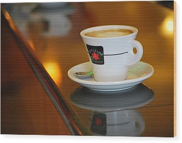 Cup Of Italy Wood Print by Amee Cave
