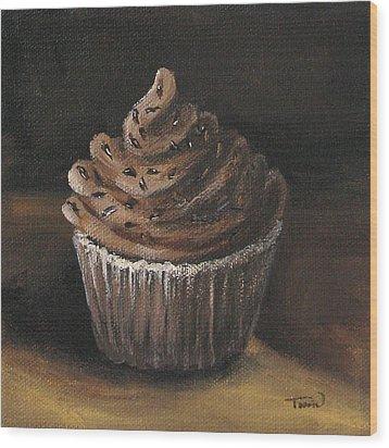 Cupcake 003 Wood Print by Torrie Smiley
