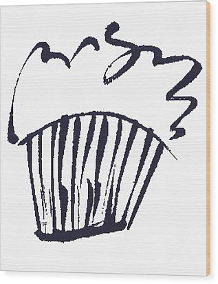 Cupcake Wood Print