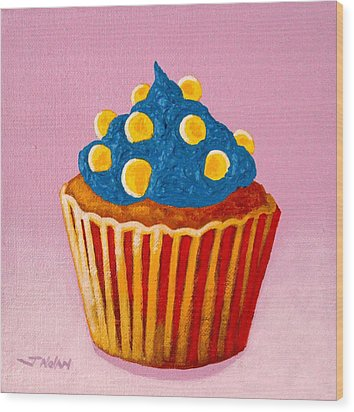 Cupcake  Wood Print by John  Nolan