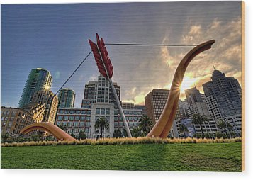Wood Print featuring the photograph Cupid's Span by John Maffei