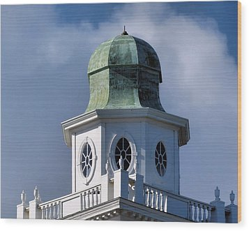 Cupola Wood Print by Janice Drew