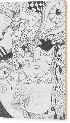 Curiosity Wood Print by Helena Tiainen