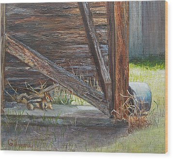 Curious Wood Print by Roseann Gilmore