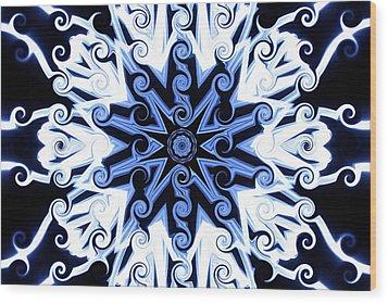 Curly Q's Wood Print
