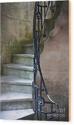 Curly Stairway Wood Print by Carlos Caetano